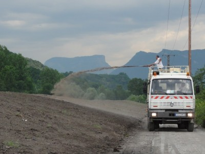 Ensement hydraulique digue Chamousset