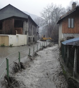 Crue Ruisseau de Saint Vital décembre 2011